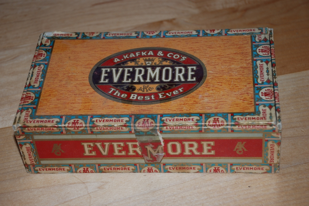 Old box of Evermore Cigars